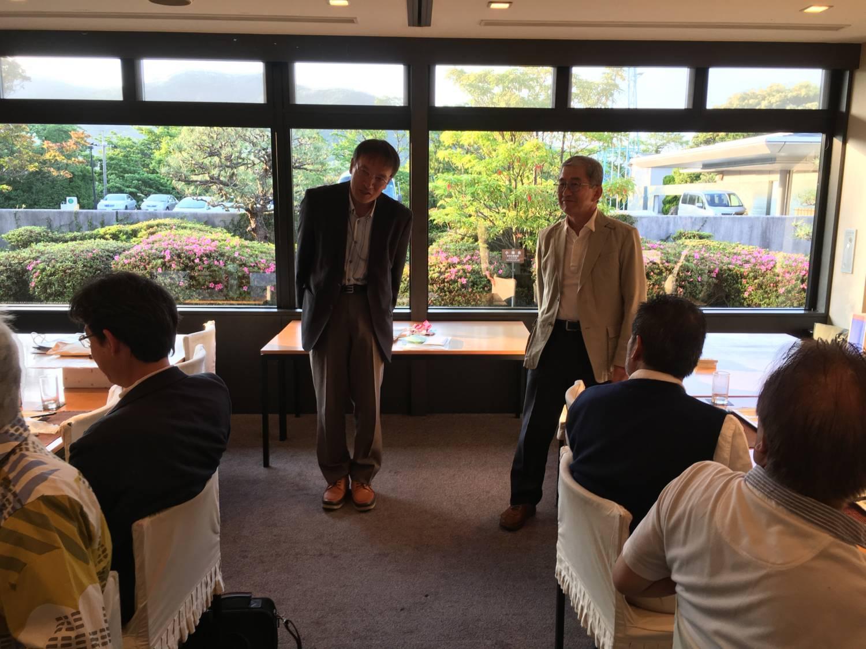 幹事の田家さんと中田さんのご挨拶。お疲れ様でした。