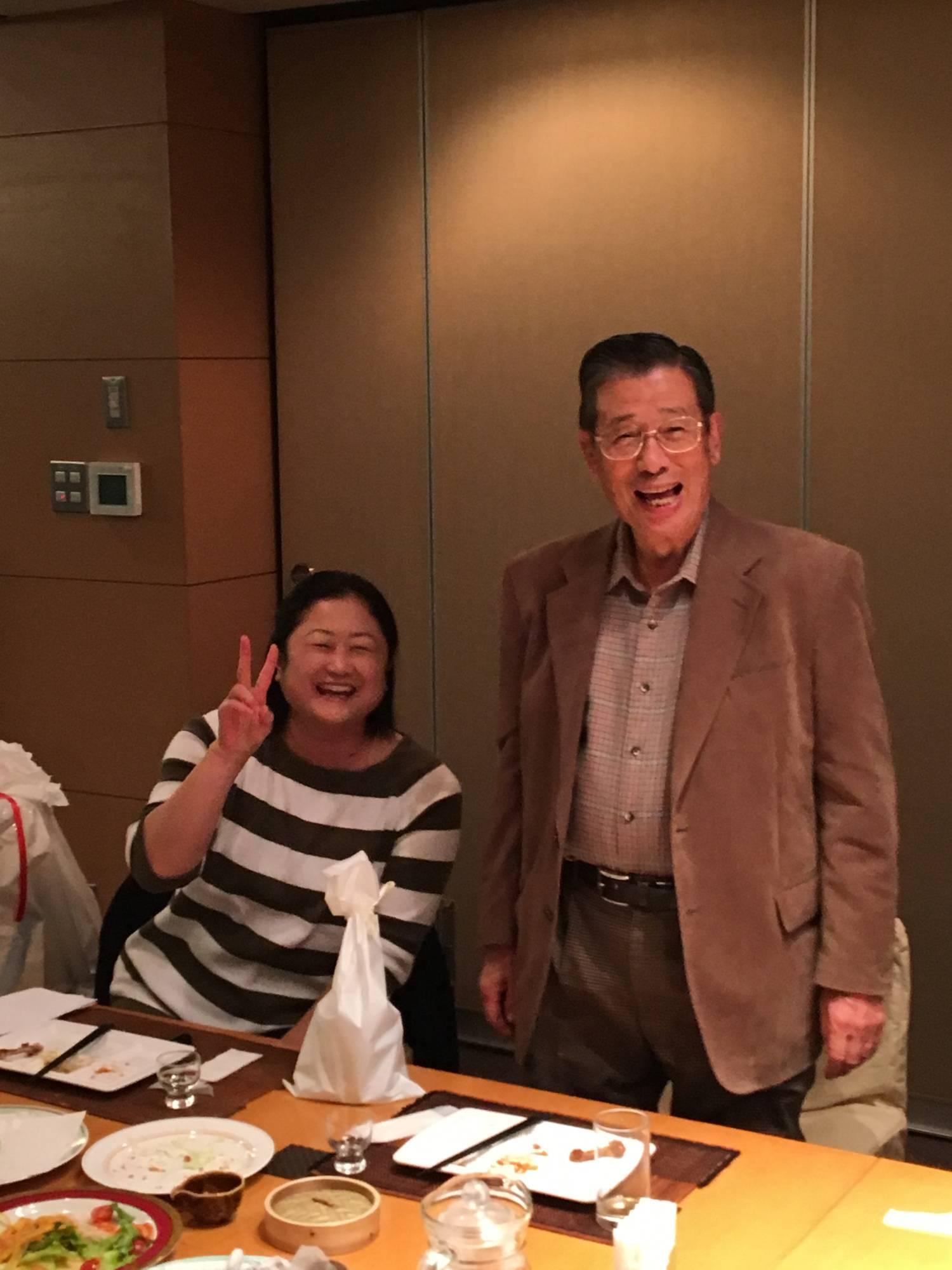田中先生と久保田氏(旧姓)おめでとうございます。師弟のツーショット
