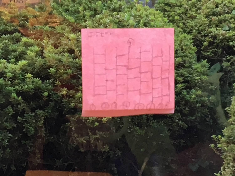 あみだくじ、、、透ける紙で見やすくなっております。