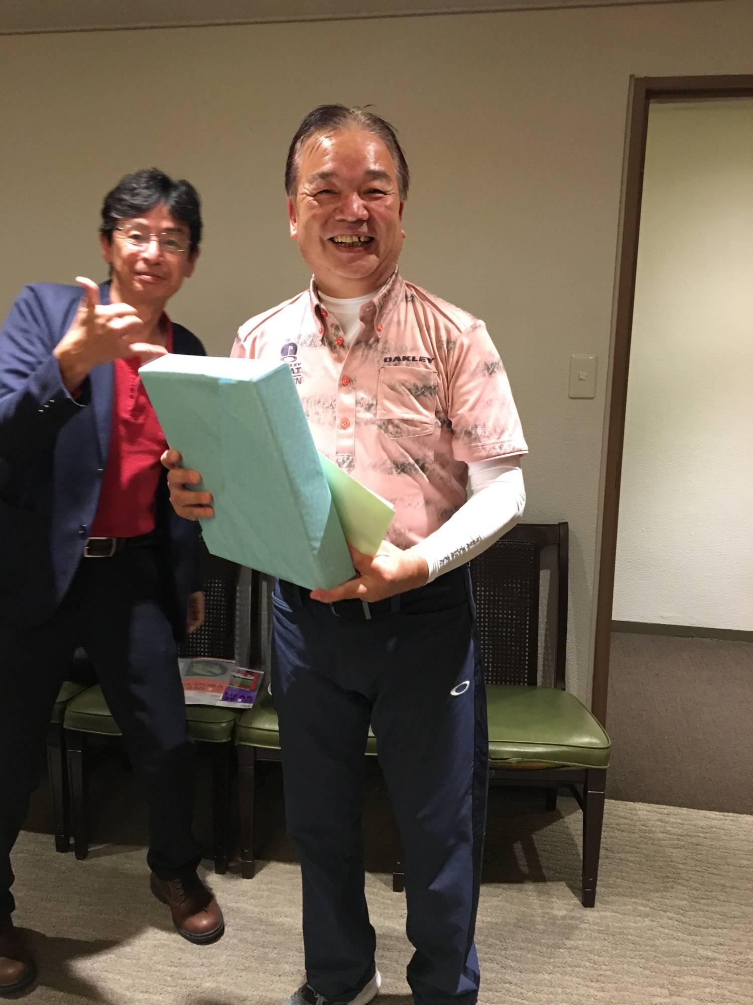 第3位の古屋氏と幹事の山田氏