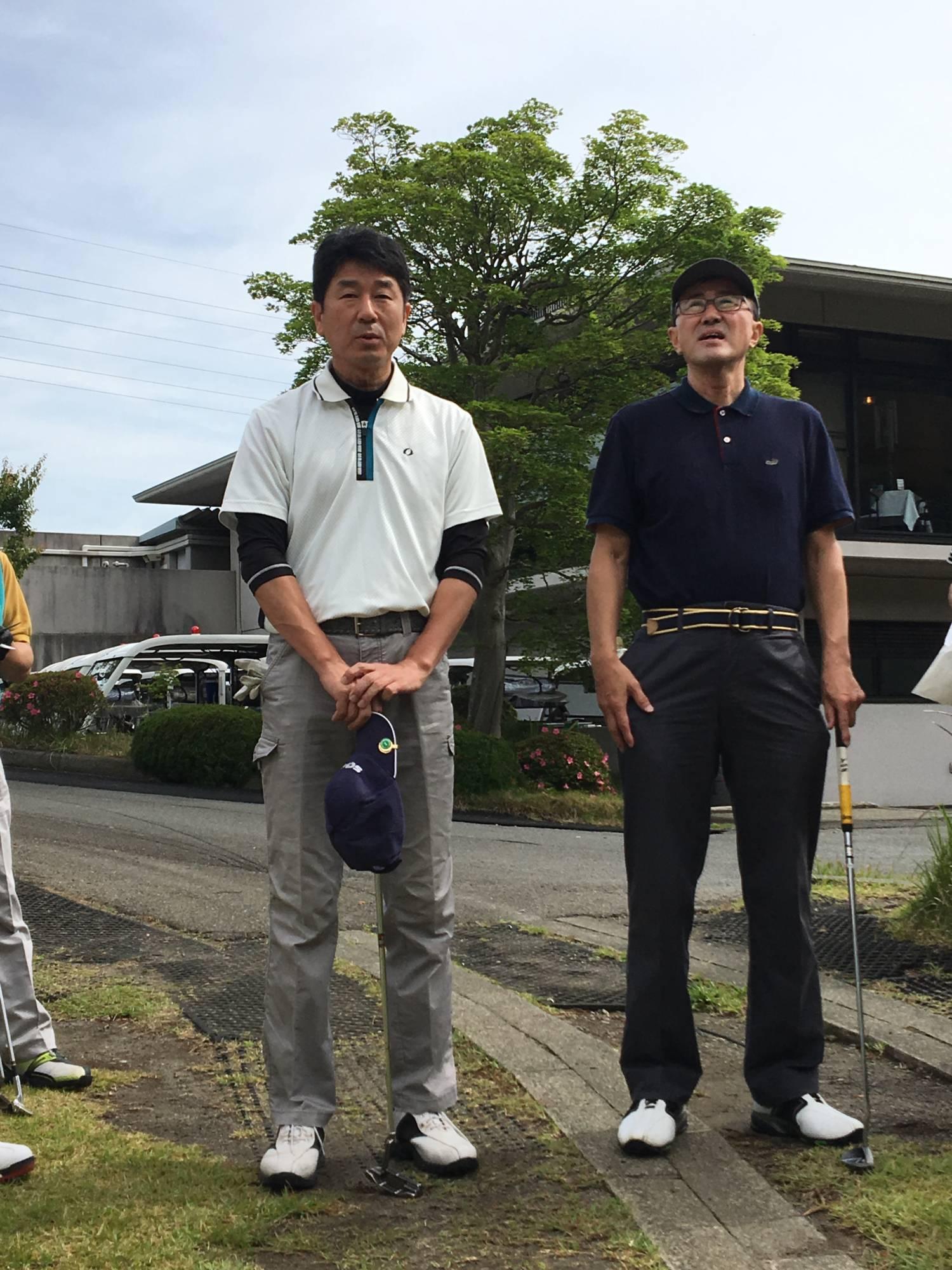 初参加の中田英幸さん(左)と神野氏