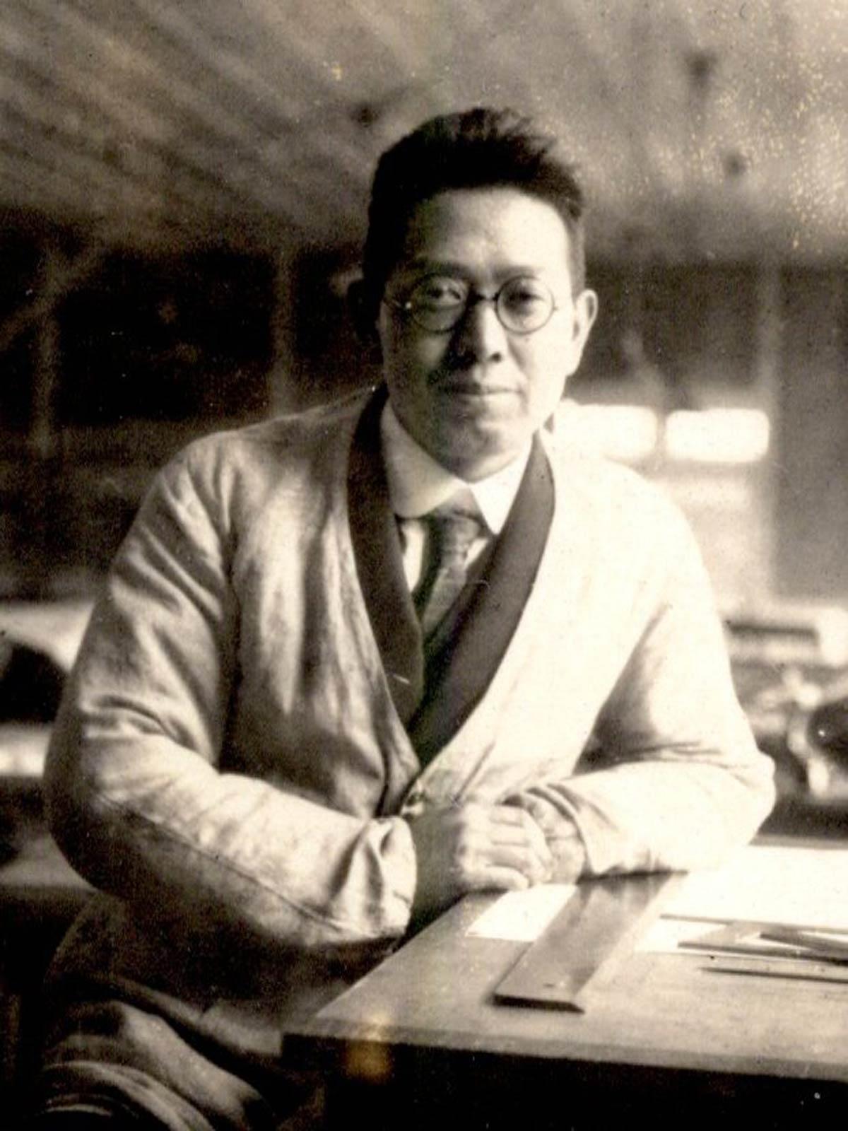 山田守 若き日の肖像(東海大学建築学科蔵)