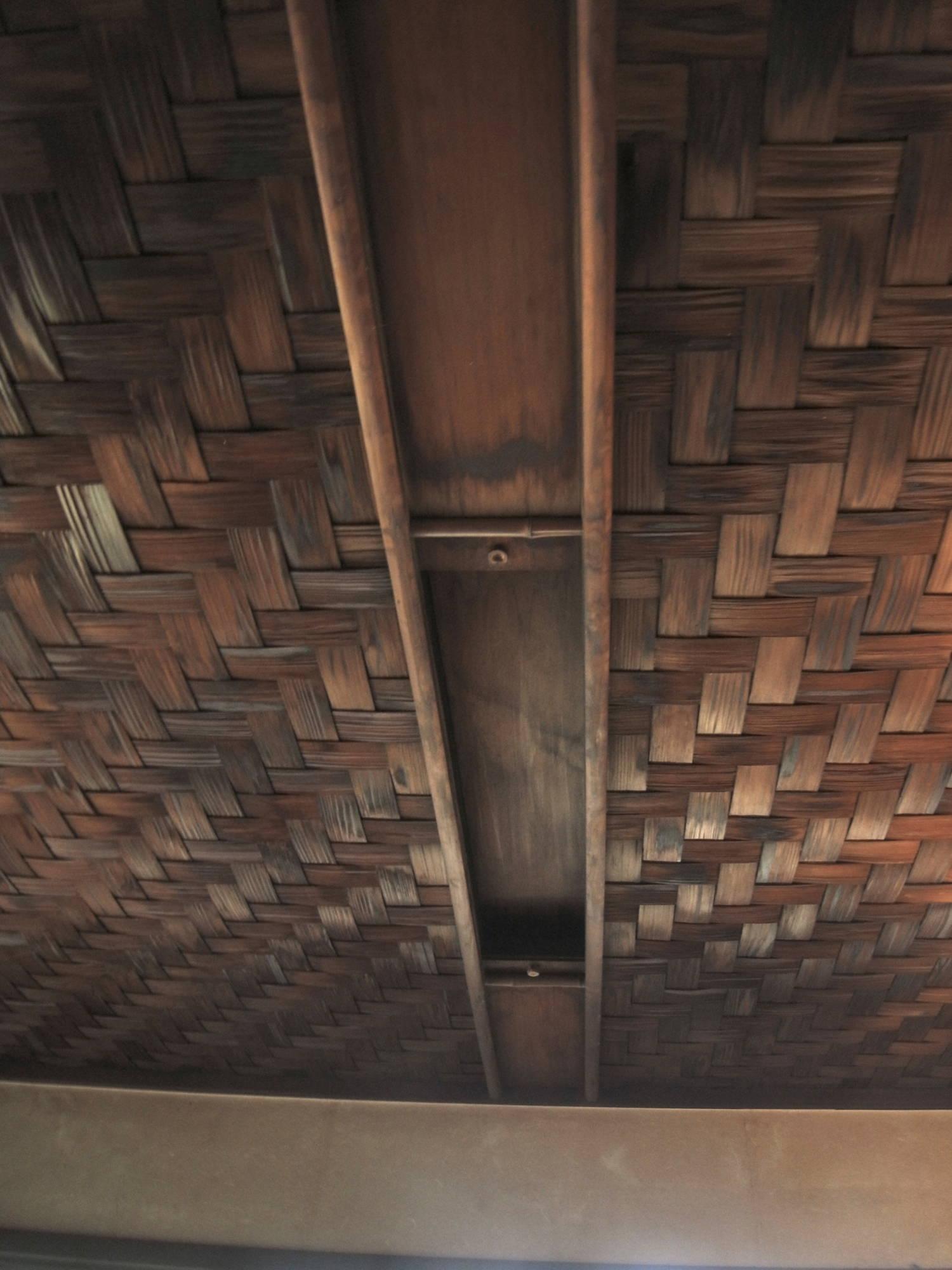 聴竹居・縁側の天井
